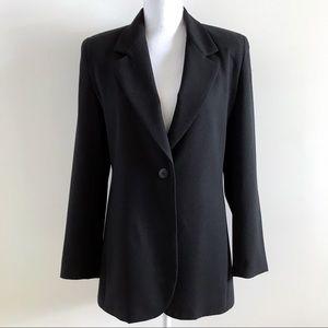 Talbots Black One Button Blazer Jacket 4